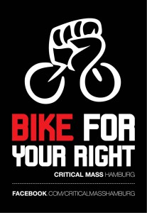 "Critical Mass Kampagne | Motiv ""Bike For Your Right"""