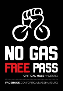 "Critical Mass Kampagne | Motiv ""No Gas Free Pass"""