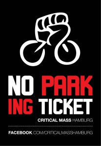 "Critical Mass Kampagne | Motiv ""No Parking Ticket"""